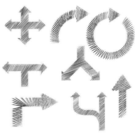 disheveled: sketched arrow Illustration