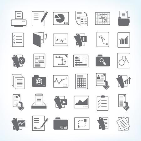 manage: document icons, file icons Illustration