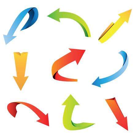 upward graph: arrows Illustration