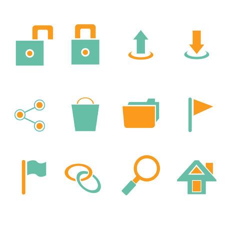 log out: web icon set