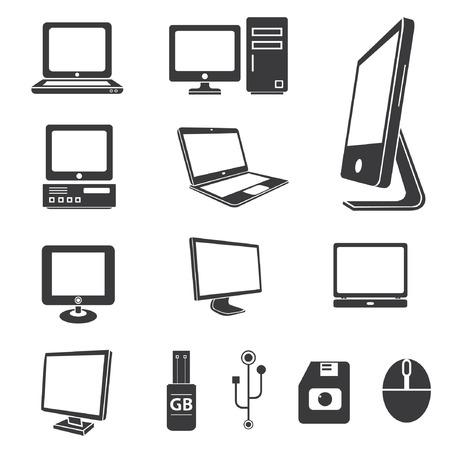Iconos informáticos, iconos de la electrónica Foto de archivo - 24468182