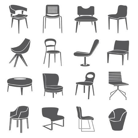 アイコン セットで家具椅子セット