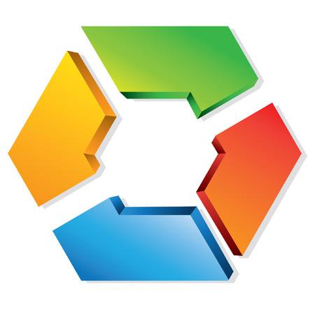 module: business process flow presentation, hexagon loop diagram