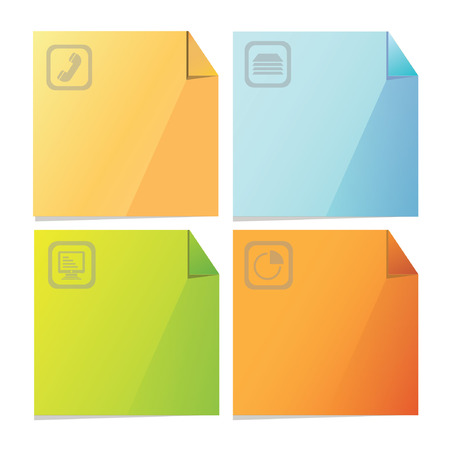 important phone call: colorful post paper set