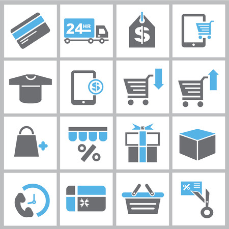 e card: marketing icons, shopping icons, supermarket icons