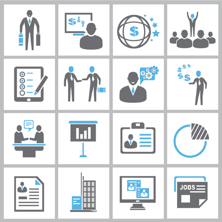 Business-Management-Icons, Icons Business-Lösung Standard-Bild - 24454465