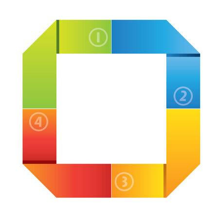 colorful business diagram Illustration