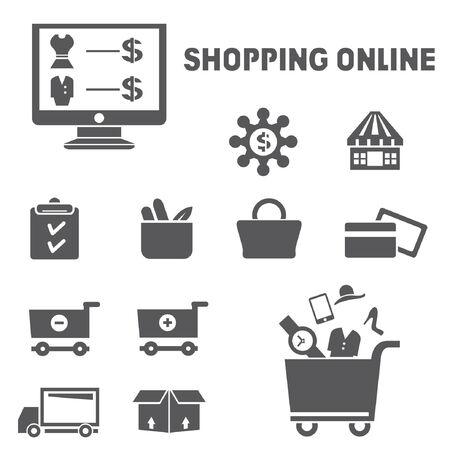 car clothes: shopping icons