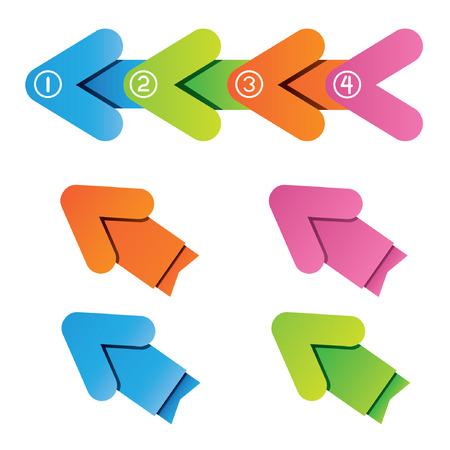 arrow step diagram Stock Vector - 24427239