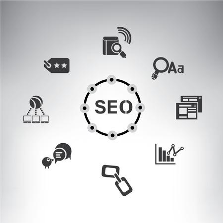 seo, search engine optimization Vector