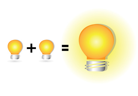 imaginative: equation of idea, brainstorms concept, wisdom