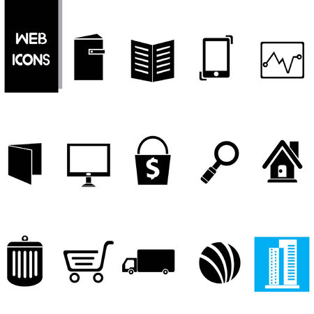 web icons set, business icons Vector