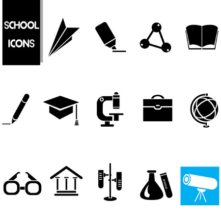 transcendence: school icons set, science icons Illustration