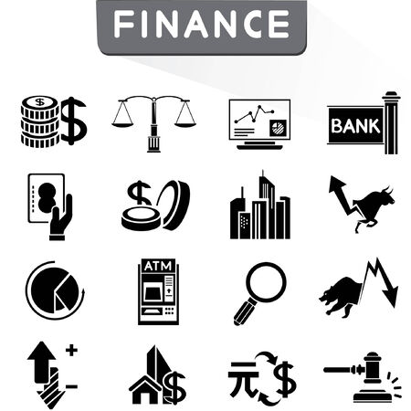 financial icons Illustration