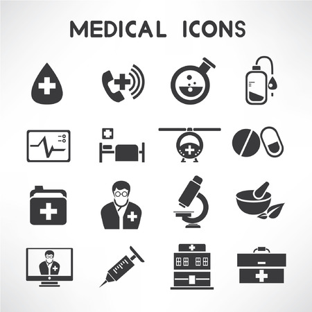 emergency call: medical icons