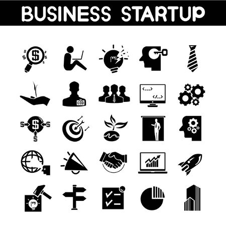 businessperson: business startup icons, business growth icons Illustration