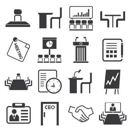 parley: iconos de reuniones de negocios, conferencias de negocios iconos