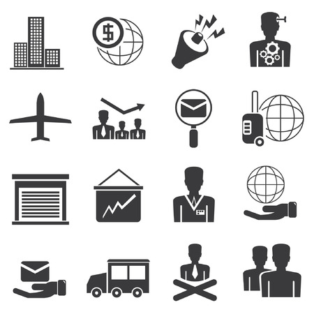 office icons and business icons set Vector