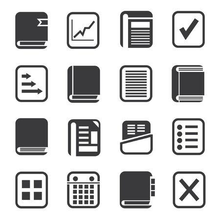 monograph: document icons set Illustration