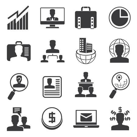 recurso: Ícones da gerência organização, ícones do escritório definida