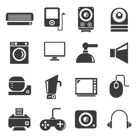 electronics icons, household icons Vector