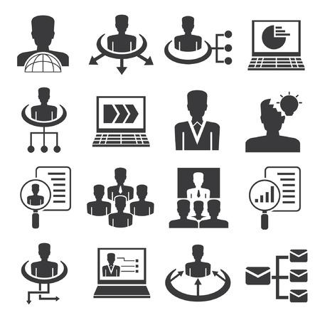 Icone di risorse umane, impostare le icone di gestione aziendale