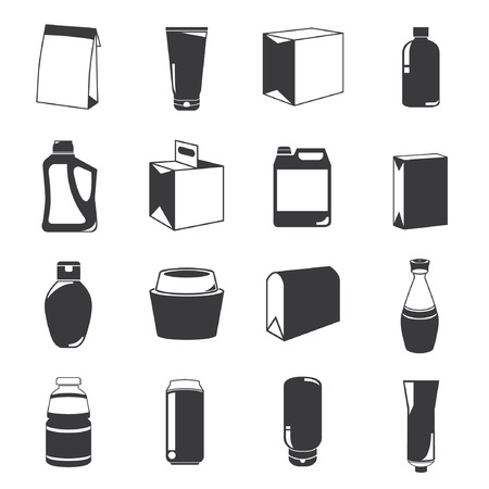 canning: box icons, packaging icons