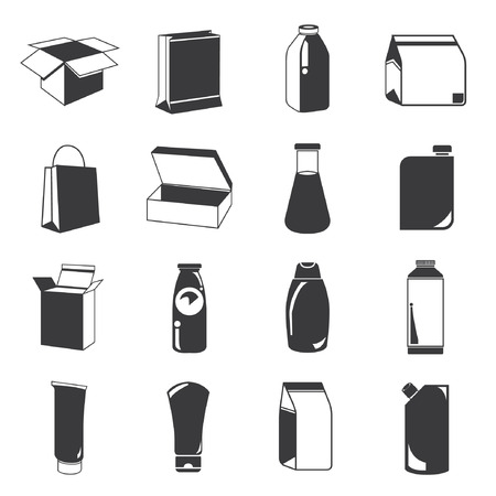 packaging industry: packaging icons Illustration