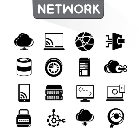 sync: network icons set, vector set