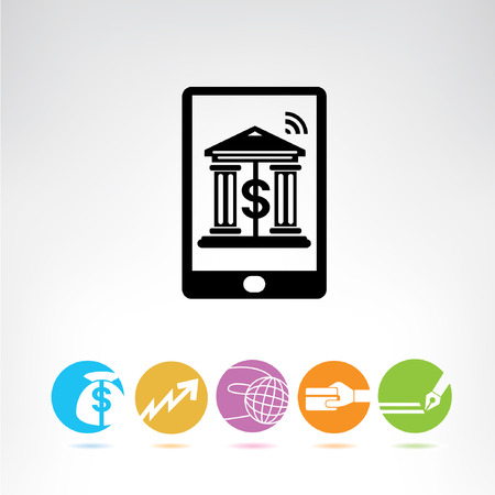 on line banking, buttons Vector