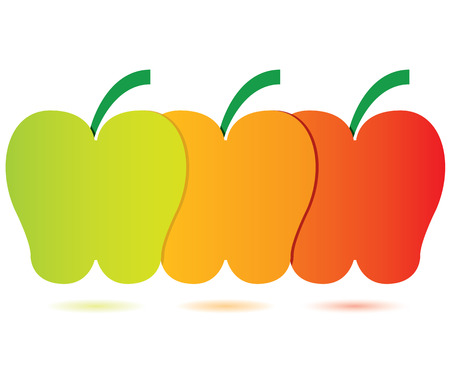 témata: tři témata schéma, jablko koncepce Ilustrace
