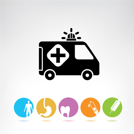 ambulance symbol, colorful buttons Vector