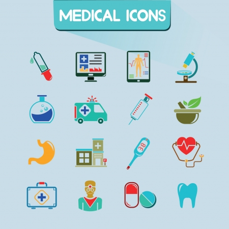 medical icons set, vector set Vector