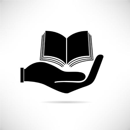 달성: 책, 손을 잡고 논문의 개념 일러스트