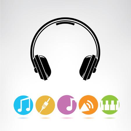 botones musica: auriculares, botones de m�sica, iconos de colores