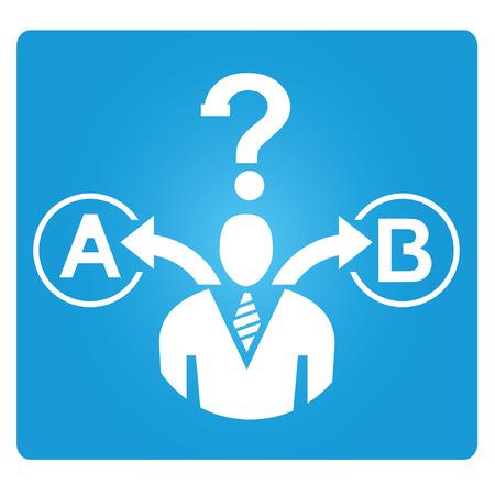 looking ahead: decision making symbol
