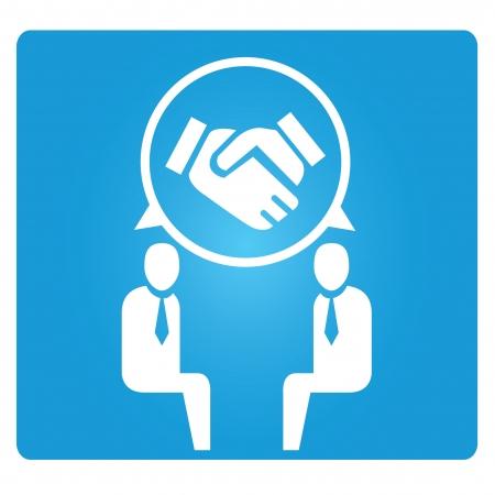 dealing: dealing concept, hand shake symbol Illustration