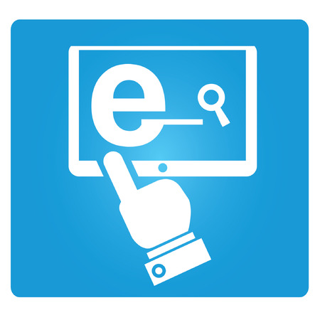 digital library: e learning symbol