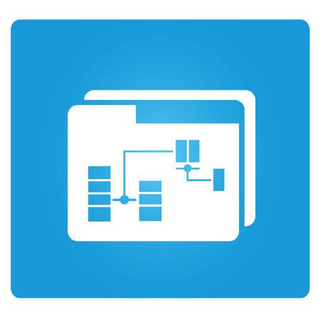 data analytics folder symbol Vector