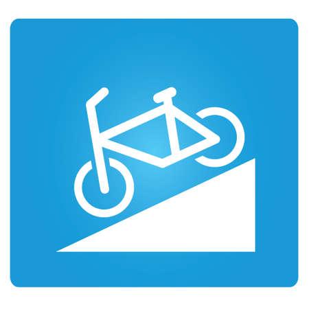 prominence: Beware of Steep Way, bicycle down way symbol