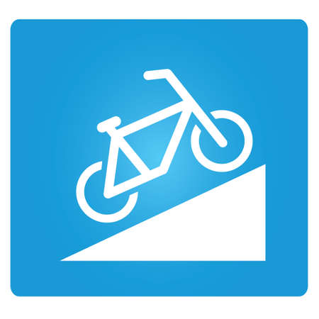 slant: Beware of Steep Way, bicycle up way symbol