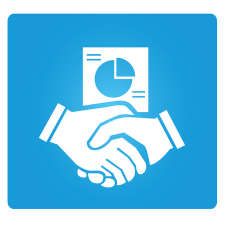 okey: hand shake, business dealing symbol Illustration