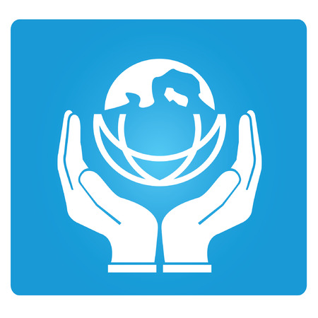 global village: care the world symbol Illustration