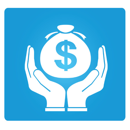 economize: asset management, money saving symbol Illustration
