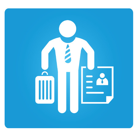 unemployed, jobless man symbol Vector