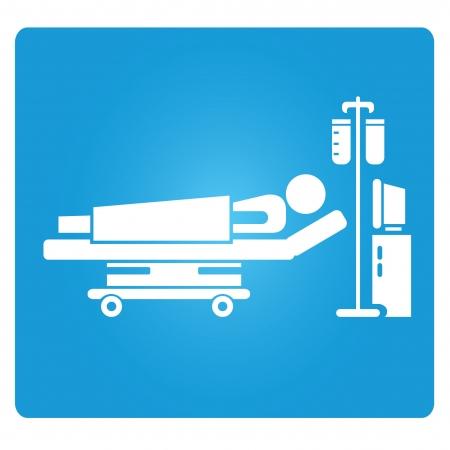 hospitalisation: symbole du patient