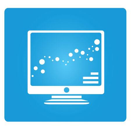 computer screen: analisi dei dati, il grafico posto sullo schermo del computer