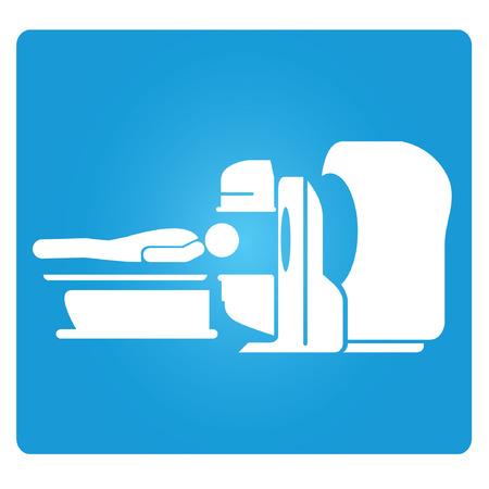 La resonancia magnética, MRI Símbolo