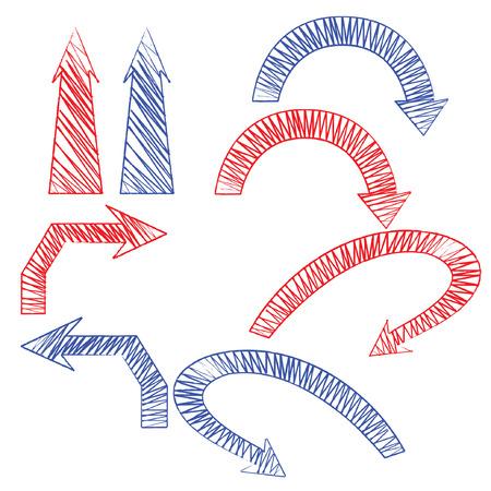 notch drawing arrows Vector
