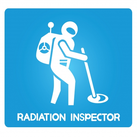 kontrolleur: Reaktorsicherheit Inspektor Inspektor Strahlung Illustration